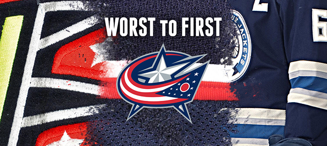 quality design 2108c c24af Worst to First Jerseys: Columbus Blue Jackets | Hockey By Design