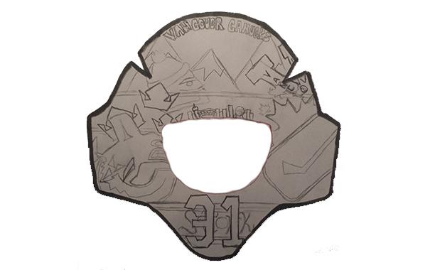 Hbd masks 2014 15 masks part 2 hockey by design of 14 year old justin mo maxwellsz