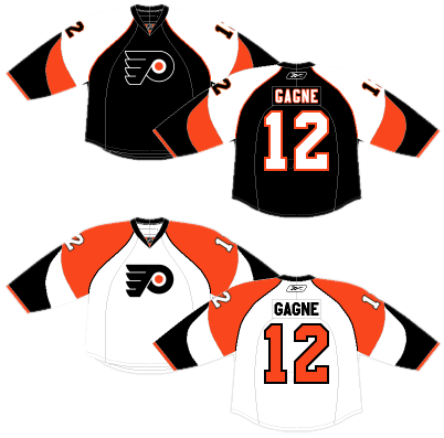 01454cd83 The Flyers have always had a thing with shoulder yokes extending all the  way to the cuffs of the jersey. These jerseys (and the ones just discussed)  are the ...