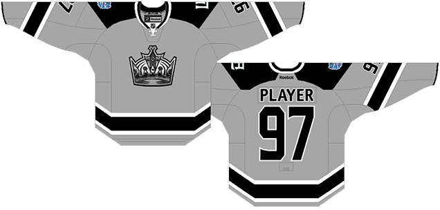 The First Ever Stadium Series Game Featuring Kings Against Ducks Brought In These Jerseys Fully Grey To Be Worn