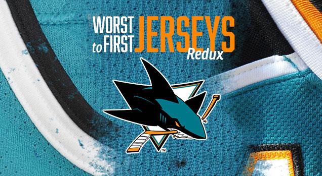 online store f4073 ca9d8 Worst to First Jerseys  San Jose Sharks (Redux)