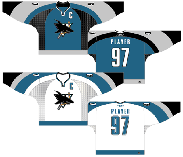 huge selection of 71f37 e67e7 Worst to First Jerseys: San Jose Sharks (Redux) | Hockey By ...