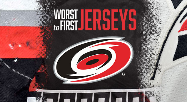 2e7e5dbdd51 ... First Jerseys features the Carolina Hurricanes. Worst to First Jerseys  is an on-going series, covering all the jerseys worn by all the teams in  the NHL.
