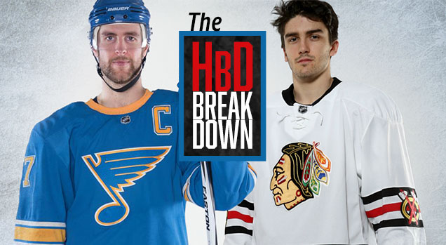 HbD Breakdown  Blackhawks and Blues Winter Classic Jerseys  06d35a198