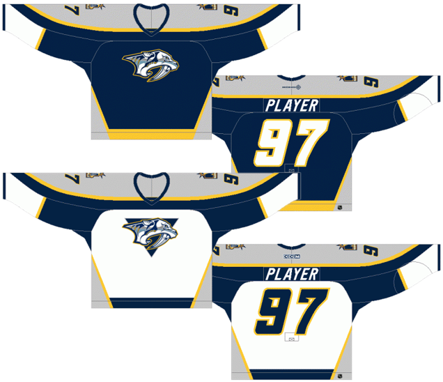 1998–2007 Home   Away Jerseys. Preds-98 Nashville s original jerseys come  in the second-last spot 511673b3a