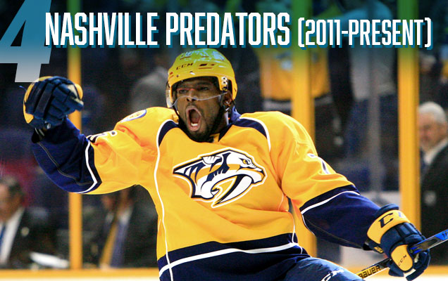 b9ee025c557 ... but the Predators have been quietly playing in one of the best  contemporary jersey sets in the league. They're unique, innovative, a great  mixture of ...