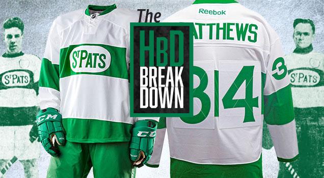 HbD Breakdown  Maple Leafs  St Pats Jerseys  0c016a47c09