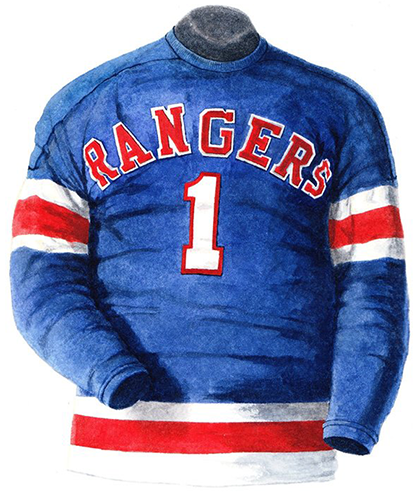 There was a very short time – one season actually – where the Rangers  featured both text and numbers on the front of their jerseys 3e66a9fe8