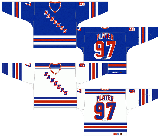 Worst to First Jerseys  New York Rangers  ef1267daf