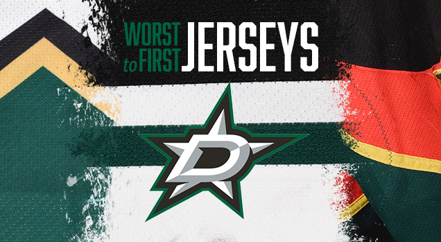 657a8d8d1b9 This installment of the Worst to First Jerseys features the Dallas Stars.  Worst to First Jerseys is an on-going series, covering all the jerseys worn  by all ...