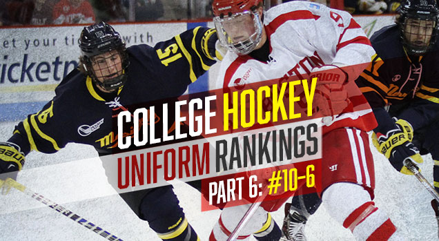 b9bc352b2 College Hockey Uniform Rankings: #10–#6 | Hockey By Design