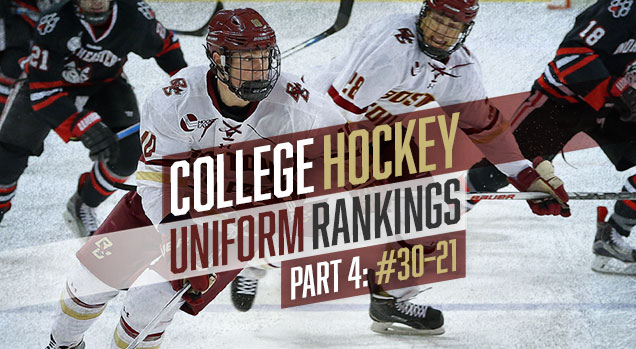 31c6d4b6d College Hockey Uniform Rankings: #30–#21 | Hockey By Design