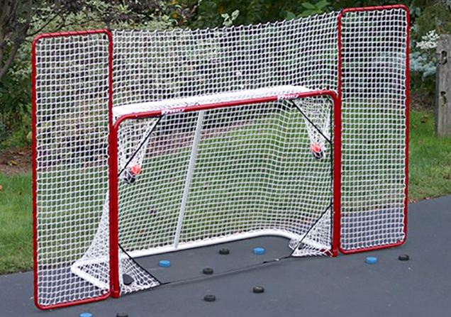 street hockey is fun taking shots in the driveway is fun refining your shot accuracy is fun running after balls that just missed the net and are now