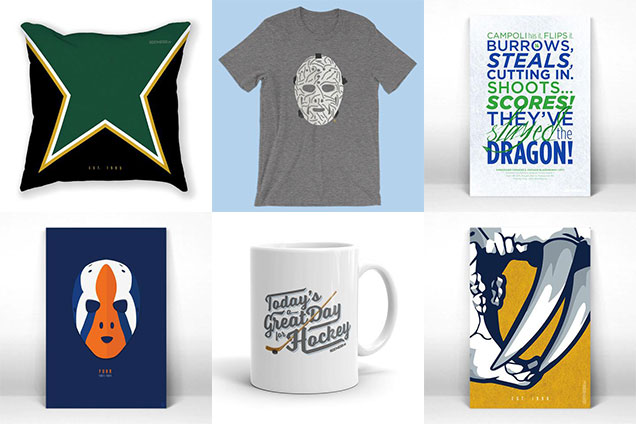 well of course wed promote our own stuff why because we own them we love them and we know you and every hockey fan on your gift list will love them