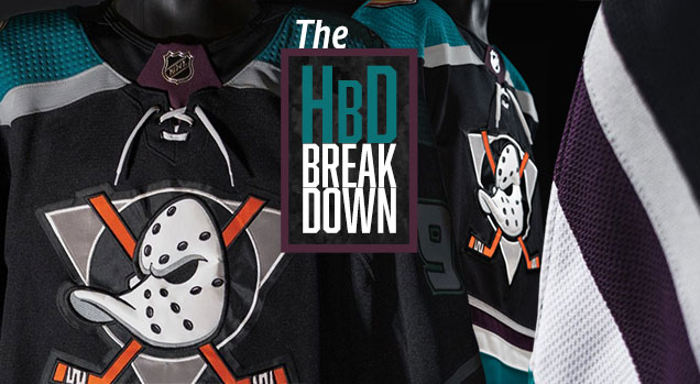 new styles 633b2 066a8 HbD Breakdown: Anaheim Ducks Third Jersey | Hockey By Design