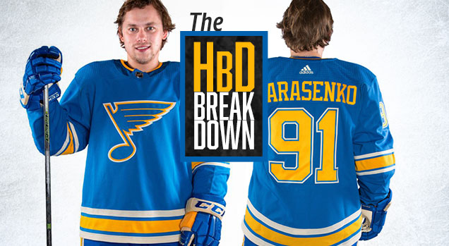 separation shoes 5607f 549b0 HbD Breakdown: St Louis Blues Heritage/Third Jersey | Hockey ...