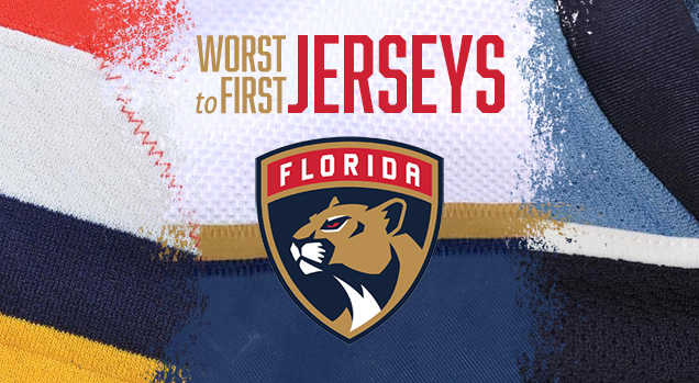 promo code c4546 bd4ff Worst to First Jerseys: Florida Panthers | Hockey By Design