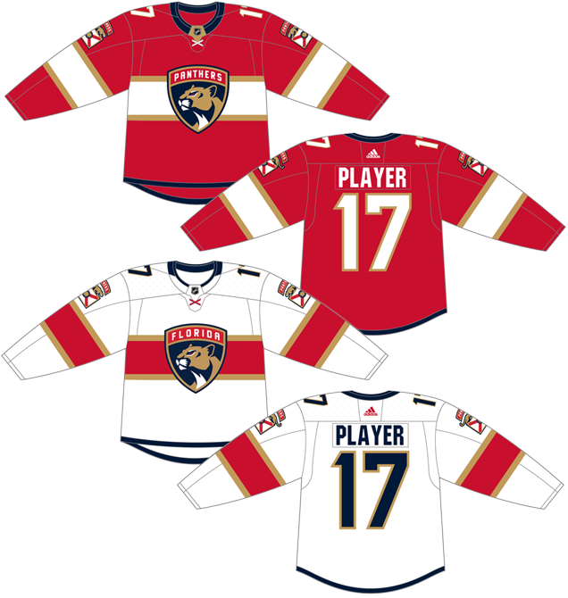 on sale 89642 8654d Jersey Spotlight: Florida Panthers 2018-2019 Home - The 4th ...