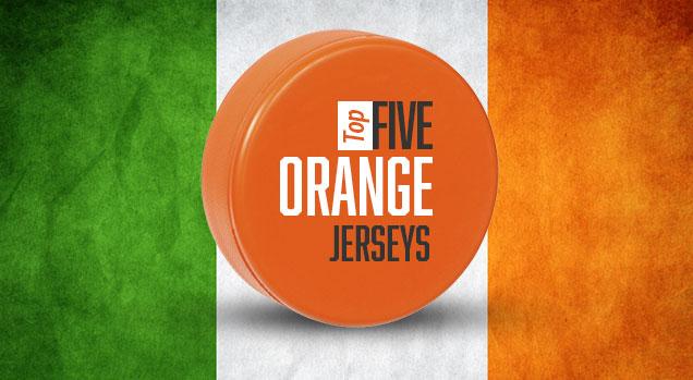 19dc4e2340 Top 5  Orange Hockey Jerseys
