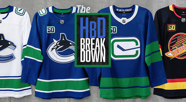 info for 71e7d db0f4 HbD Breakdown: Vancouver Canucks Jerseys | Hockey By Design